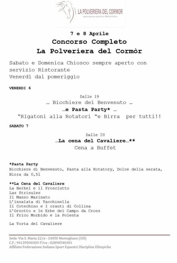menu polveriera
